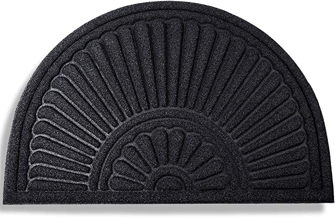 Patio Mibao Entrance Door Mat 24 x 36 inch Non-Slip Welcome Doormat for Entry Winter Durable Large Heavy Duty Front Outdoor Rug Blue