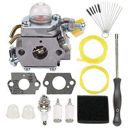 Amazon.com: 308054012 Carburador para cortacésped de 25 cc ...