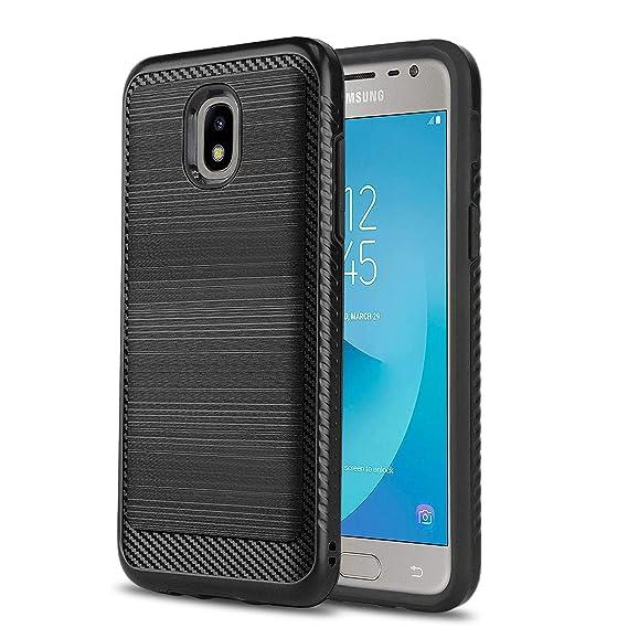 Phone Case for [Samsung Galaxy J3 Orbit (S367VL)], [Modern Series][Black]  Shockproof Cover [Defender] for Samsung Galaxy J3 Orbit (Tracfone, Simple
