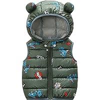 Baby Toddler Winter Hooded Puffer Vest Cute Ear Cartoon Sleeveless Lightweight Waistcoat Jacket for Kid Girls Boys