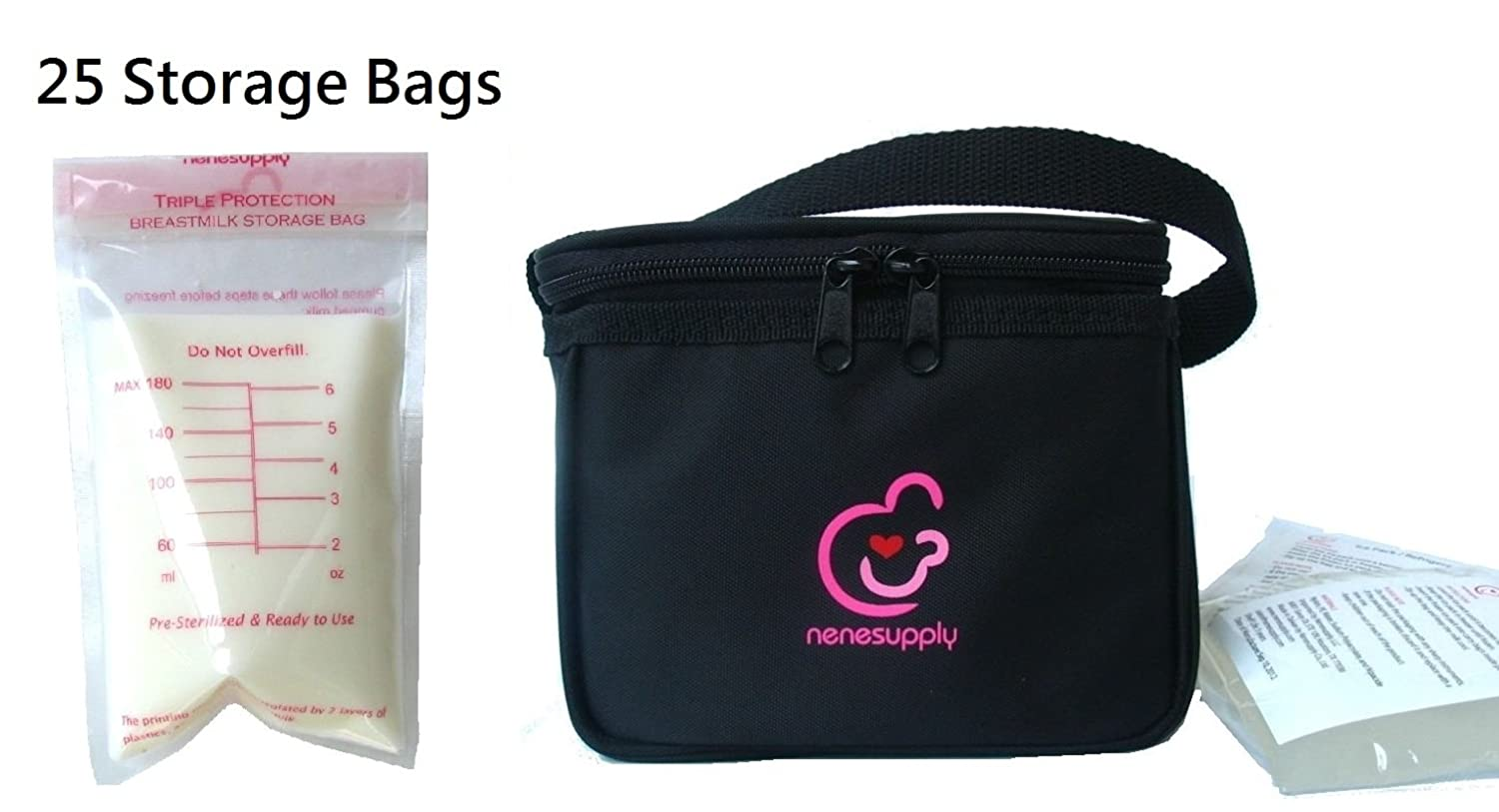 Coolerbag Buy Nenesupply Bottle Bag Cooler Breastmilk And 25 Count 6oz Storage Bags Can Online At Low Prices In India Amazon
