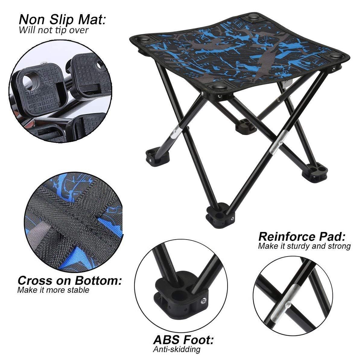Amazon.com: AILLOVCOL Mini taburete plegable portátil ...