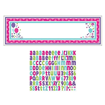 Amscan 120202 Banner, One Size, Purple and Teal: Kitchen & Dining [5Bkhe0904944]