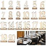 ROSENICE 席札 テーブル番号 ウェディング席札 木製 数字つき 1-20 メモ 結婚式・パーティー・会議・ 講座・イベント(20枚)