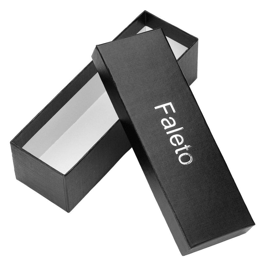 Faleto ceinture pour homme lombaire en toile ceinture de 9 trous boucle bande de cuir Belt Longueur 125cm Coffret Vert d\'armée