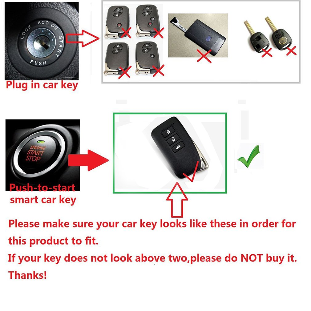 First2savvv Alumium Hard Keyless Remote Key Fob Flip Key Protection Case Cover Side Blades For Lexus Smart Key Fob Holder CAR-YS-LEXUS-02G11 with cleaning cloth please check compatibility from product photo