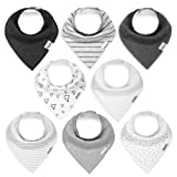 Amazon Price History for:Baby Bandana Drool Bibs for Boys and Girls, Unisex 8 Pack Bib Set with Snaps for Drooling, Teething and Feeding, Soft and Absorbent, Baby Shower Gift for Newborn by KiddyStar.
