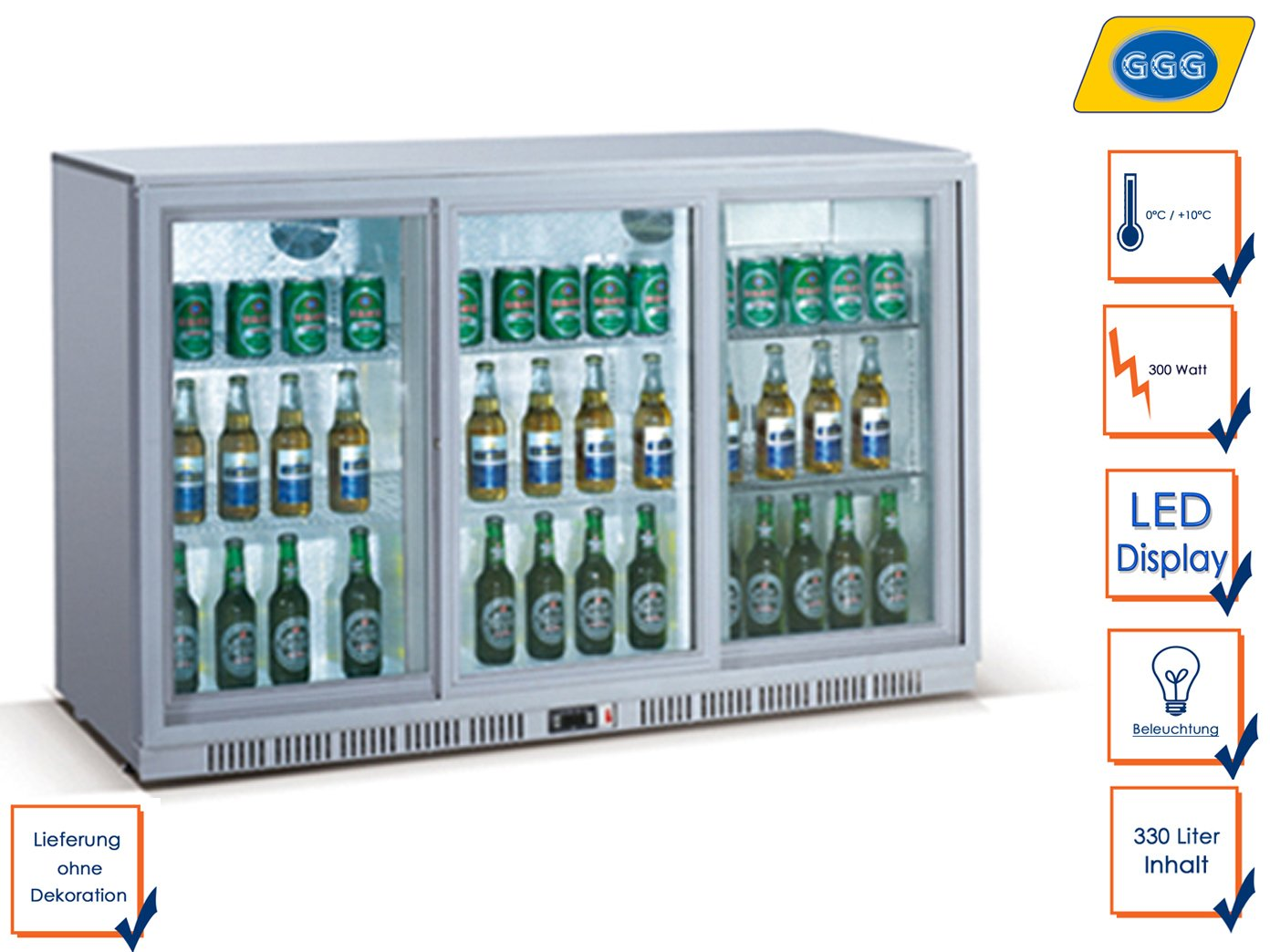 Minibar Kühlschrank Abschließbar : Profi flaschenkühlschrank liter ° c ° c umluftkühlung