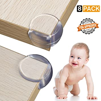 Best Baby Proofing Corner Guards /& Edge Protectors 8-Pack, Brown Child Proof Sharp Table Corners