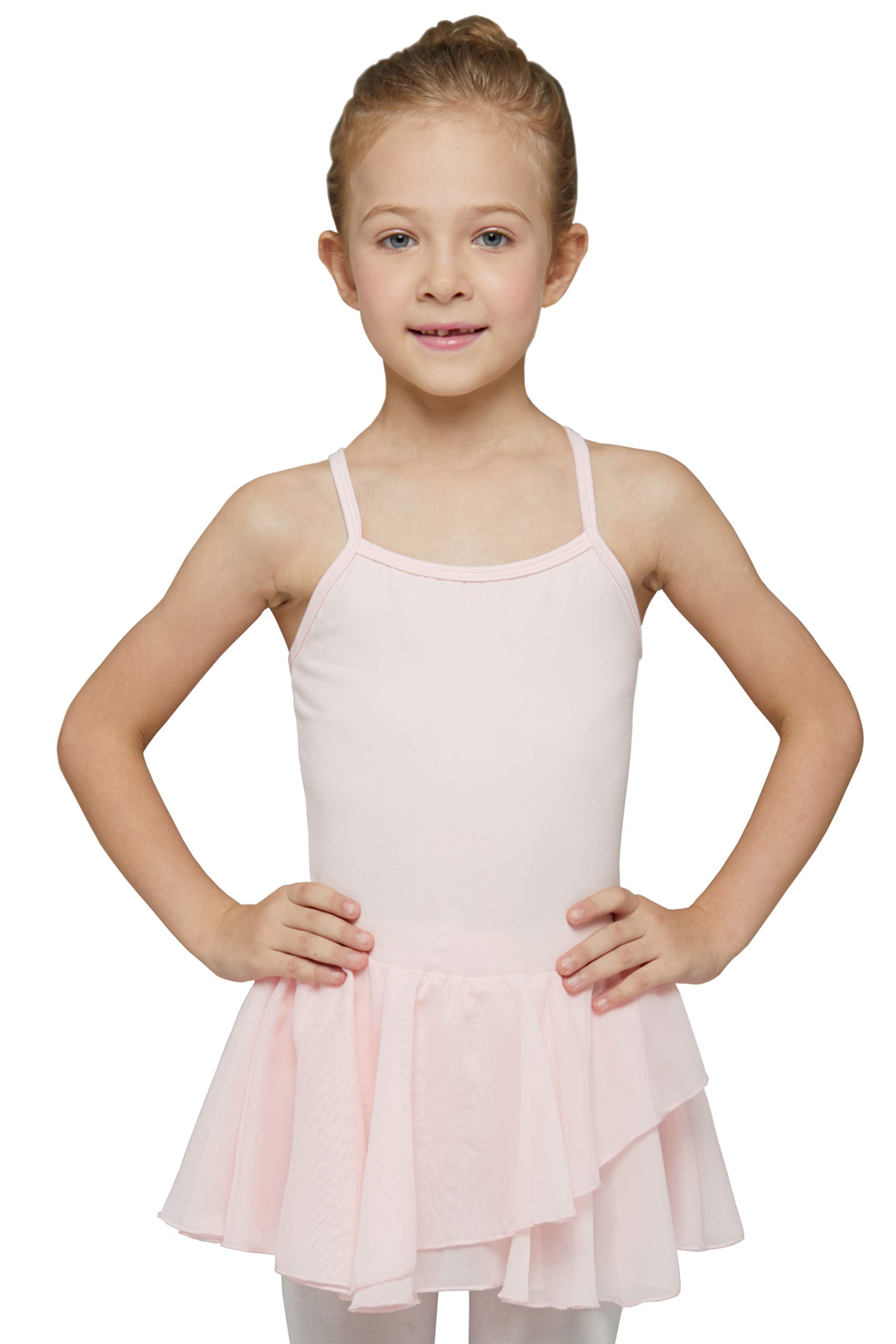 MdnMd Girls' Camisole Cotton Leotard Dress (2-4 / Toddler, Ballet Pink) by MdnMd