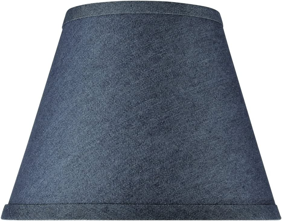 Aspen Creative Washing Blue, 32177, Transitional Hardback Empire Shaped Spider Construction Lamp Shade, 9 Wide 5 x 9 x 7