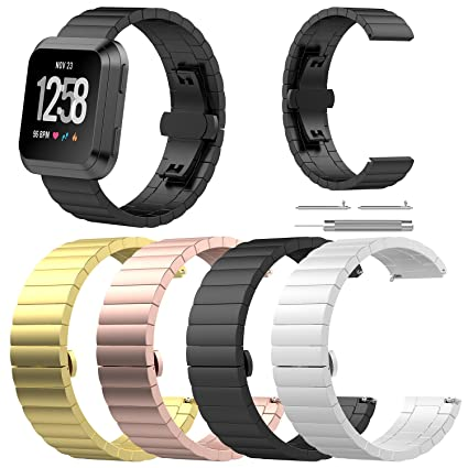 Amazon.com : Chofit Metal Bands Compatible with Fitbit Versa ...
