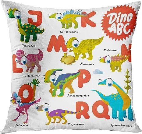TOMKEYS Throw Pillow Cover Alphabet
