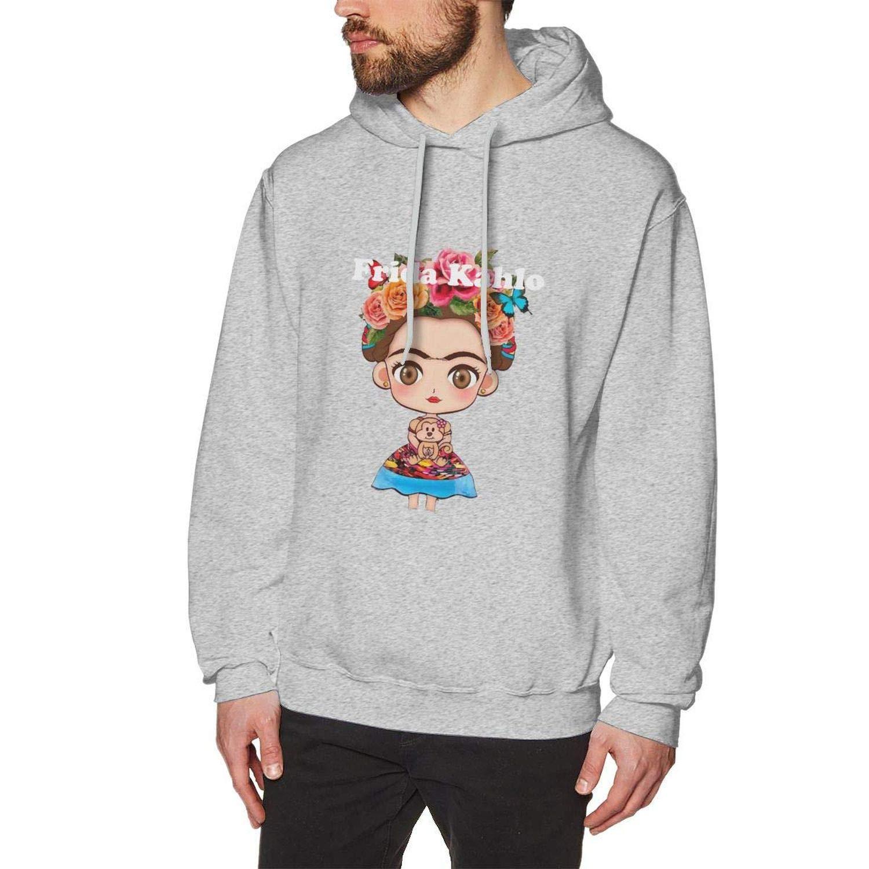 Yksth S Frida Kahlo Cartoon Hooded Casual Shirts Gray L 3083