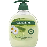 Palmolive Naturals Liquid Hand Wash Soap Softening Aloe Vera and Chamomile Pump 0% Parabens Recyclable, 250mL