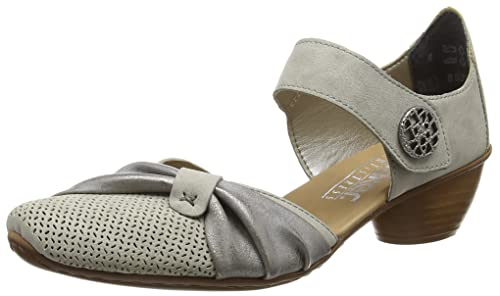 wholesale dealer 45230 5fa57 Rieker Damen-Slipper grau (9)