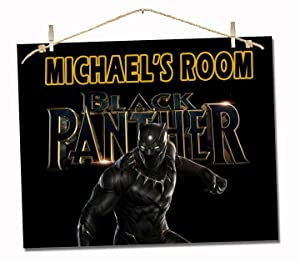 "Black Panther Girl Boy Personalized Poster Poem 8x10"" Room Wall Decor Gift"