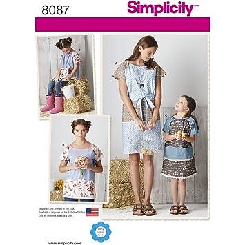 Simplicity Kinder und Damen Pullover Kleid und Top Schnittmuster ...