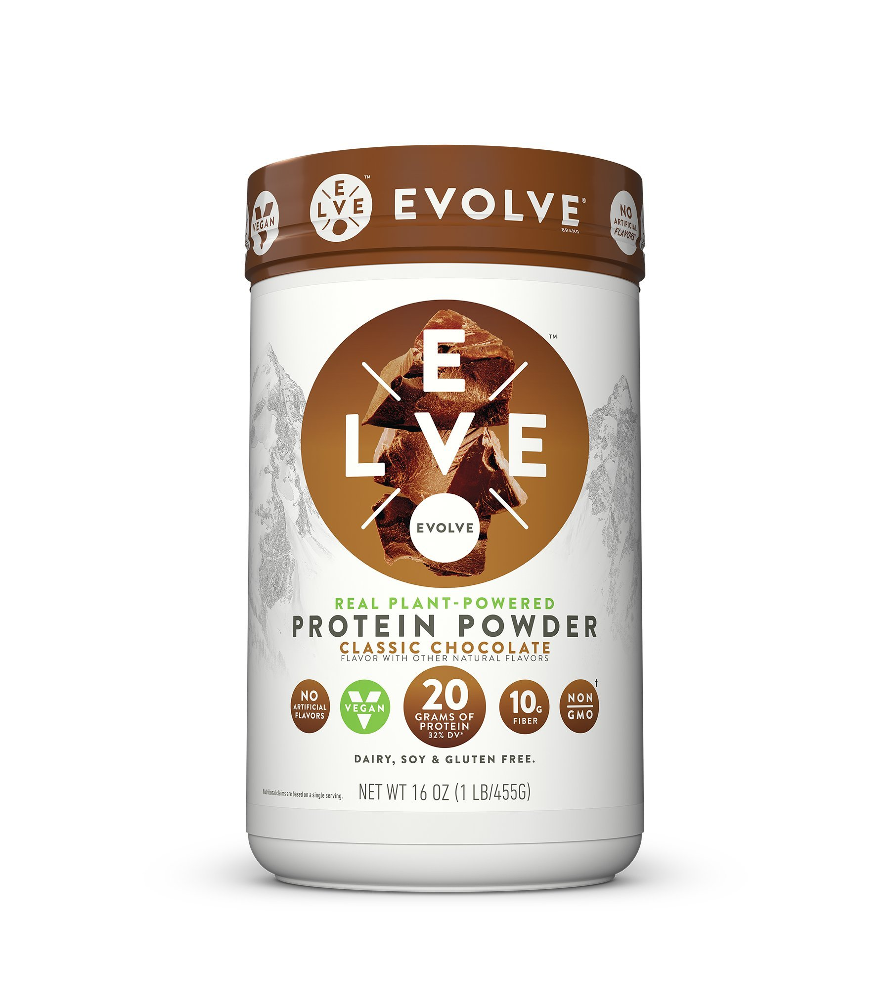 Evolve Protein Powder, Classic Chocolate, 20g Protein, 1 Lb by EVOLVE