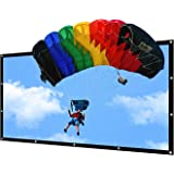 NIERBO 150 inch Portable Projector Screen Outdoor 16:9 Movie Screen for Projection Double Sided for Home Theater No Wrinkles