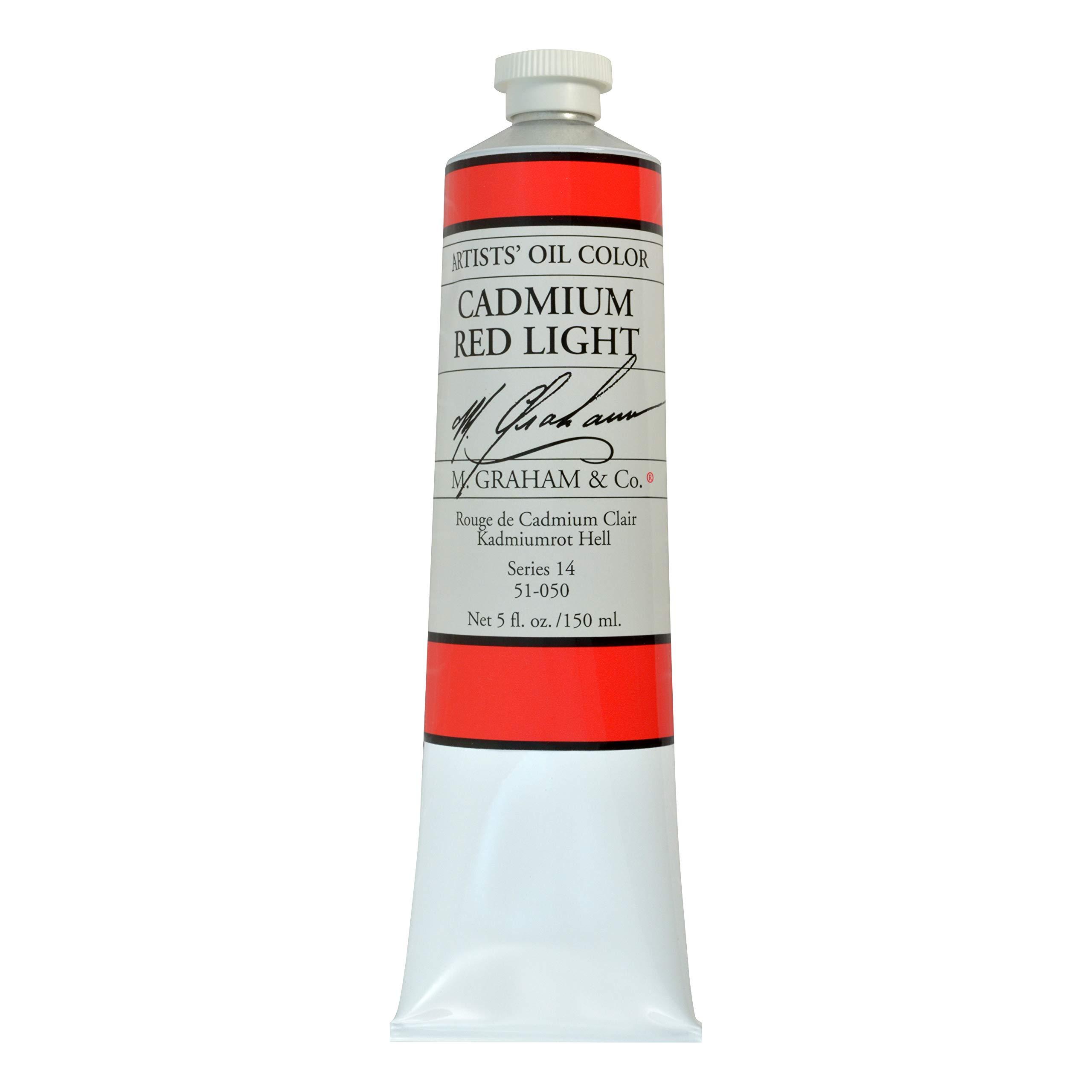 M. Graham Artist Oil Paint Cadmium Red Light 5oz Tube by M. Graham & Co.