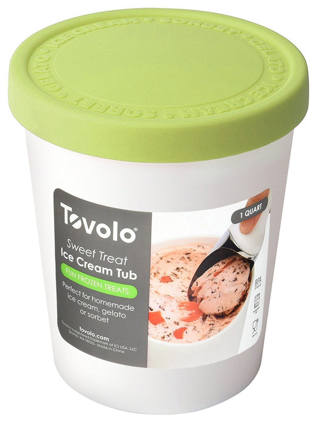 Tovolo Tight-Fitting, Stack-Friendly, Sweet Treat Ice Cream Tub, Pistachio by Tovolo (Image #3)