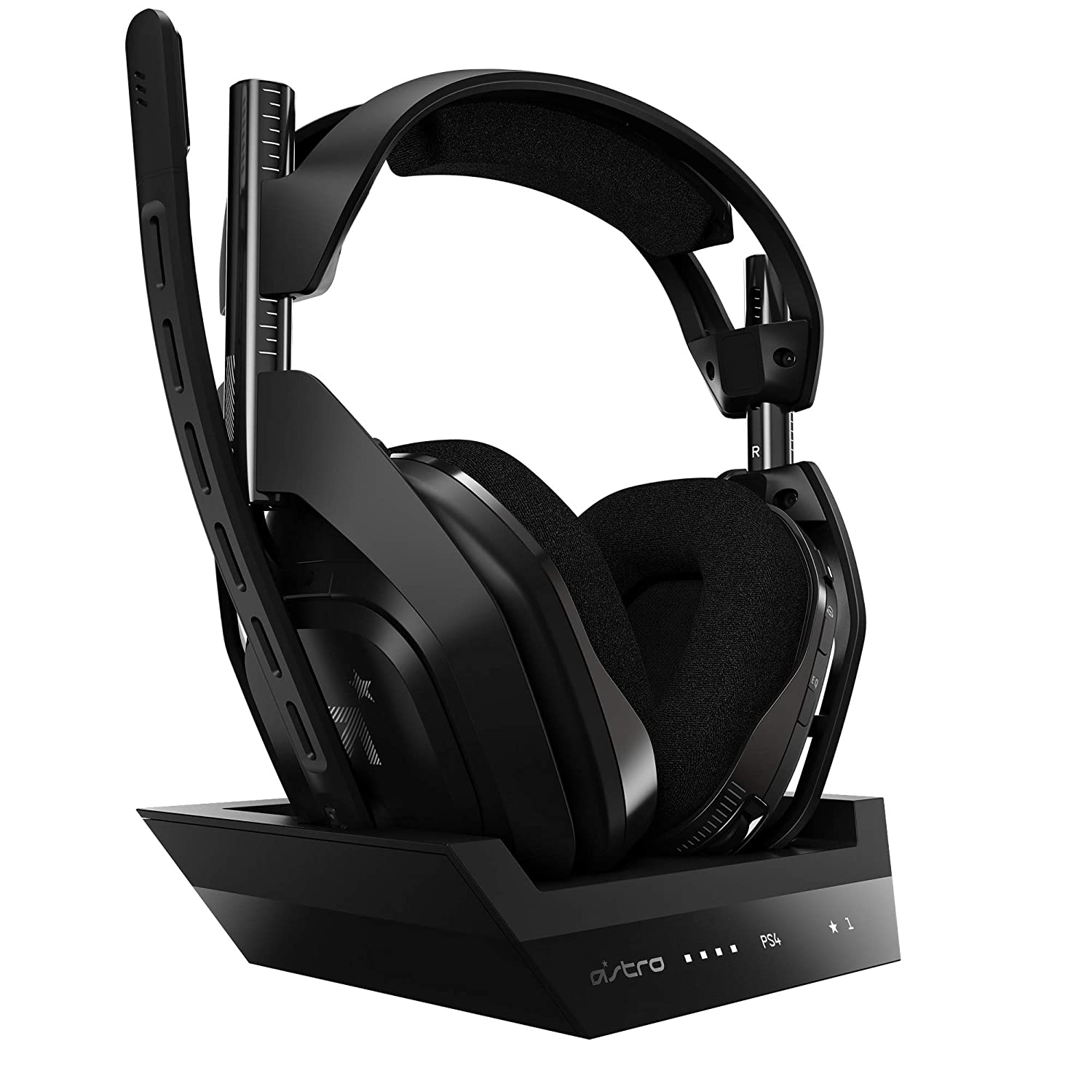 ASTRO Gaming A50 Wireless + Base Station for PlayStation 4 & PC - Black/Silver (2019 Version)