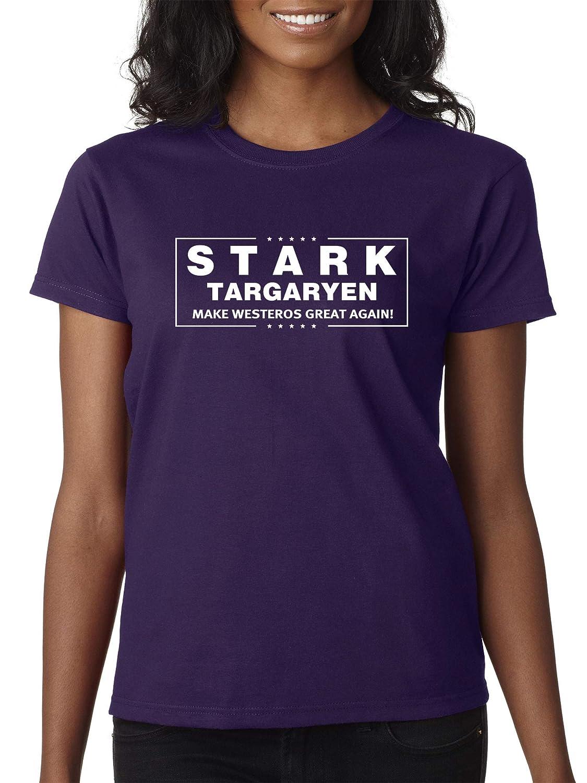 Purple Trendy USA 775  Women's TShirt Stark Targaryen Game of Thrones Election