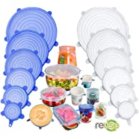 Silicone Stretch Lids, 12 Pack Miracle Lids, Magic Insta Lids, Reusable Silicone Lids With Hanging Holes Fit Round…