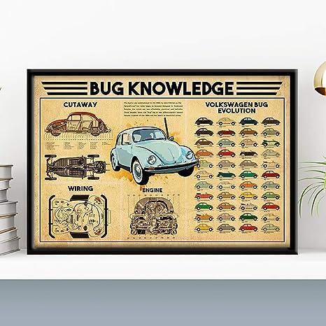 Wall Art Vw Beetle Art//Canvas Print Home Decor Poster