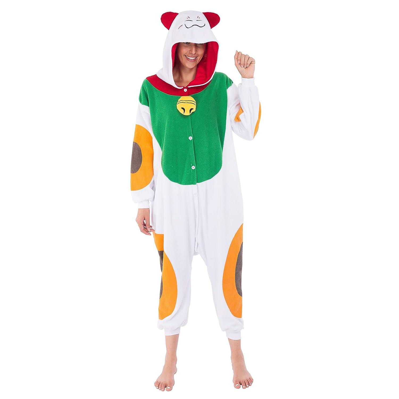 09c463a5ba Spooktacular creations unisex adult pajama plush onesie one piece lucky cat  animal costume clothing jpg 1500x1500