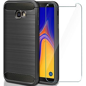 AROYI Funda Samsung Galaxy J4 Plus Silicona + vetro ...