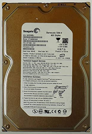 Seagate ST3400832AS Barracuda 7200.8 400GB