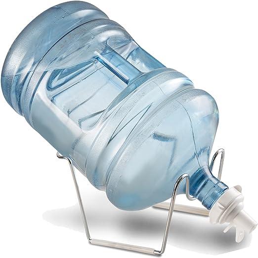 5 Gallon Water Bottle Dispenser Cooler Rack Stand /& Nozzle Valve
