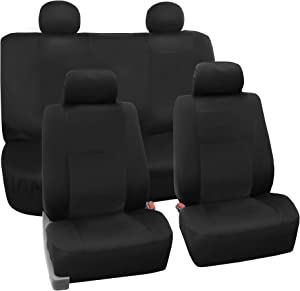 FH Group FB085BLACK114 Seat Cover Neoprene Blend Waterproof Seat covers Full Set with Bench Black