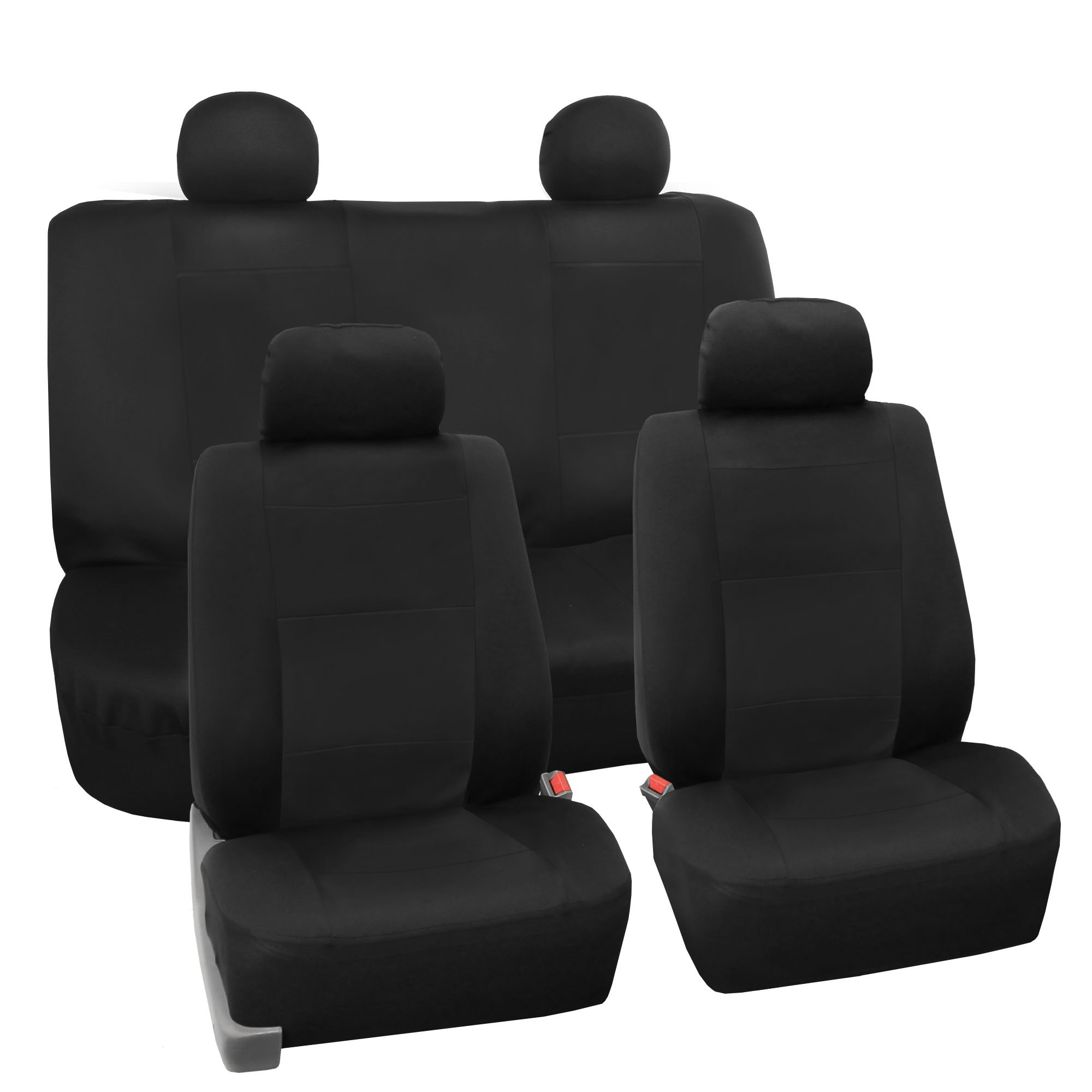 FH Group FB085BLACK114 Seat Cover Neoprene Blend Waterproof Seat covers Full Set with Bench Black by FH Group
