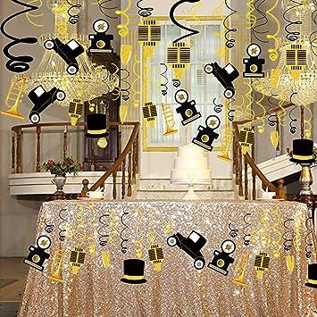 Laventy Banniere En Forme De Tourbillon Des Annees 1920 Decoration D Anniversaire 20 Ans Decoration De Fete D Anniversaire 20 Ans Amazon Fr Jeux Et Jouets