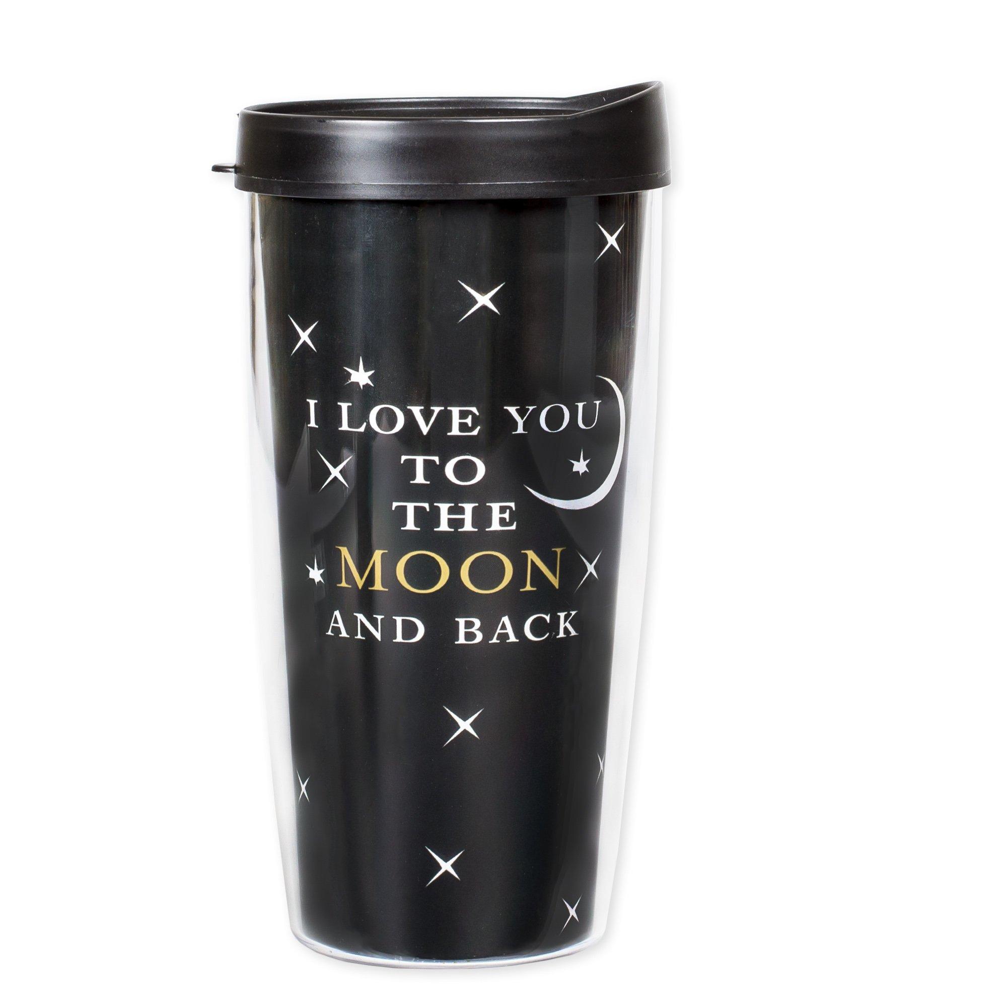 I Love You to the Moon and Back 16 Oz Tumbler Mug with Lid