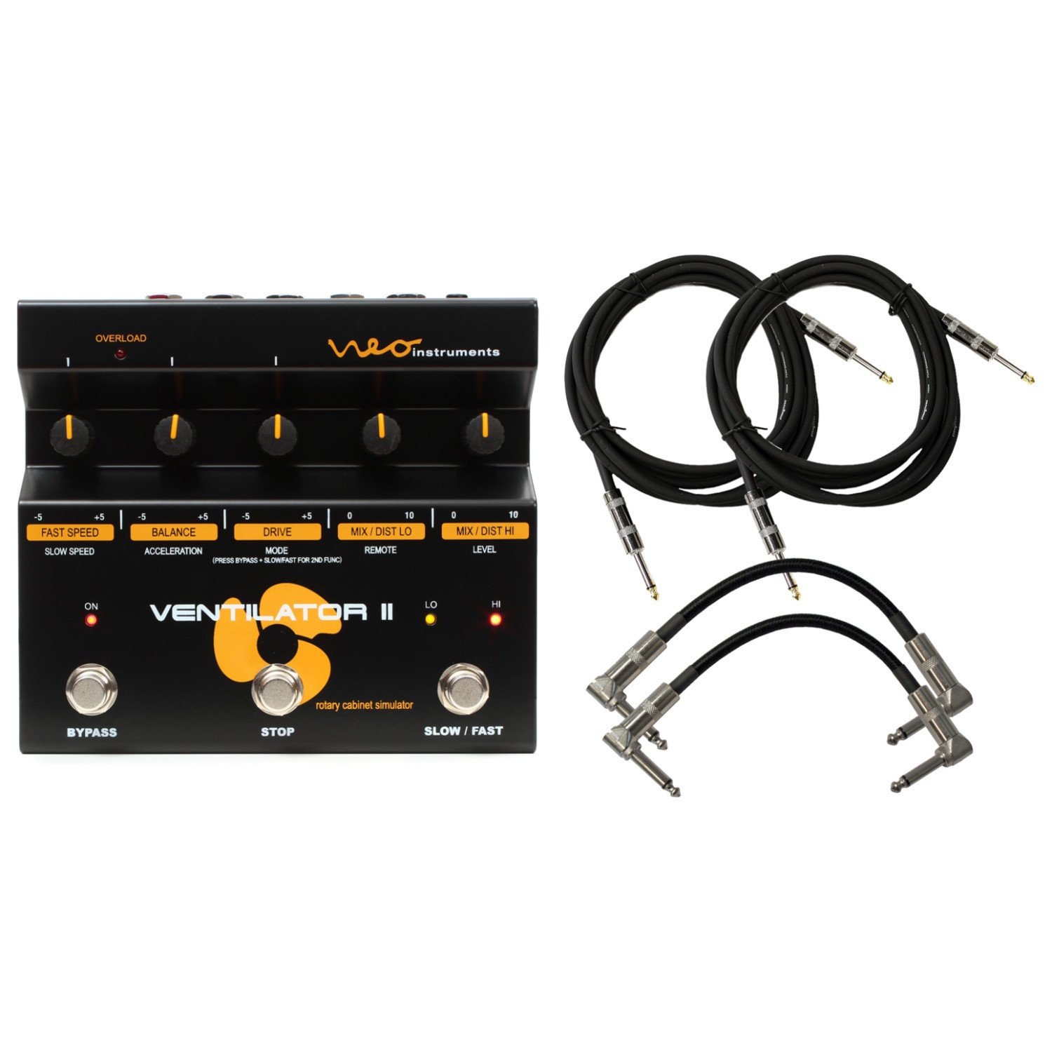 neo instruments ventilator ii rotary speaker simulator pedal for guitar keyboard with 4 cables. Black Bedroom Furniture Sets. Home Design Ideas