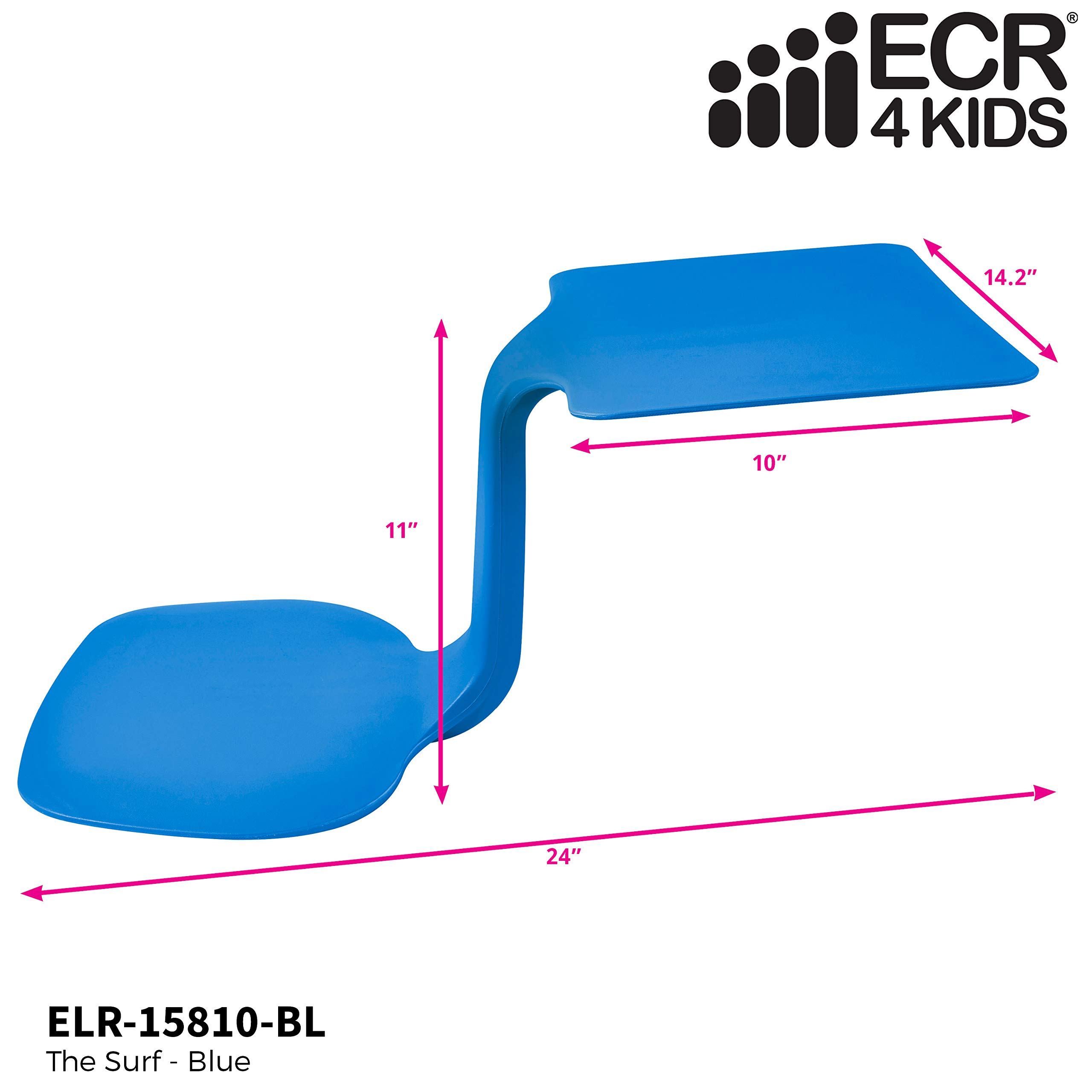 ECR4Kids The Surf - Portable Lap Desk/Laptop Stand/Writing Table, Blue (10-Pack) by ECR4Kids (Image #3)