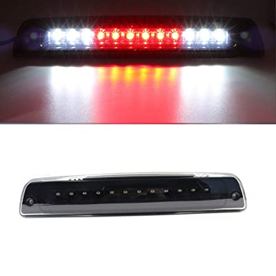 High Mount Dual Row LED 3rd Brake/Cargo Light Fit for 1994-2001 Dodge Ram (Black Housing Smoke Lens): Automotive