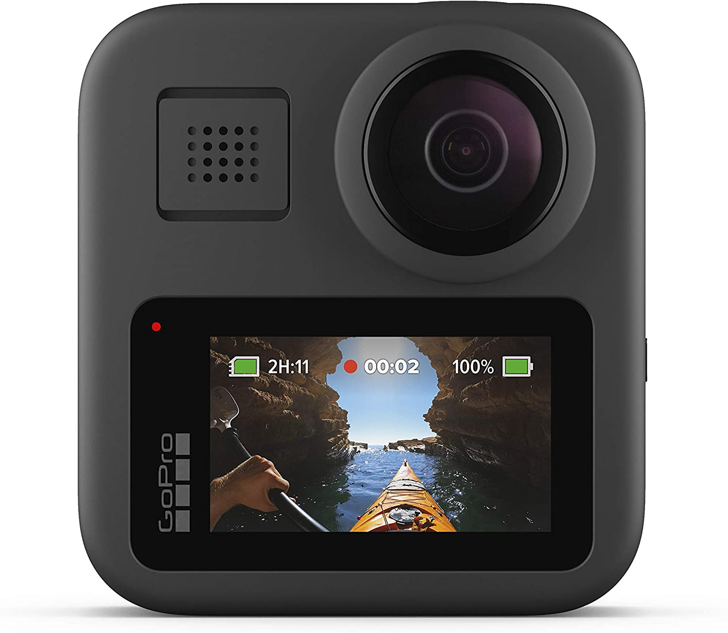 GoPro MAX — Waterproof 360 + Traditional Camera with Touch Screen Spherical 5.6K30 HD Video 16.6MP 360 Photos 1080p Live Streaming Stabilization : Camera & Photo