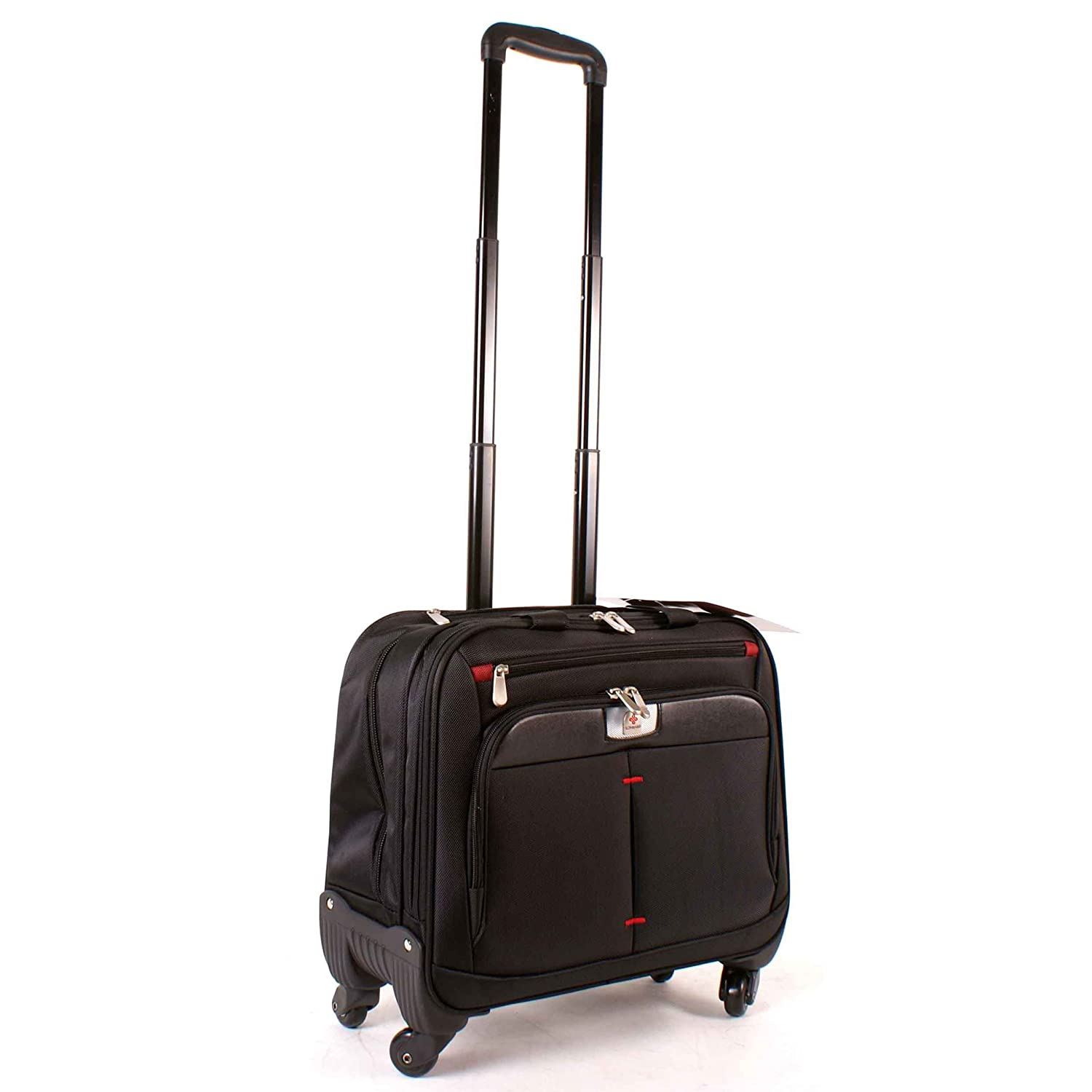 070 Black Lombard Black Laptop Trolley 17 Inches