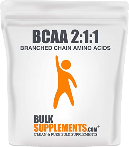 BulkSupplements.com BCAA 2 1 1 Branched Chain Amino Acids 500 Grams