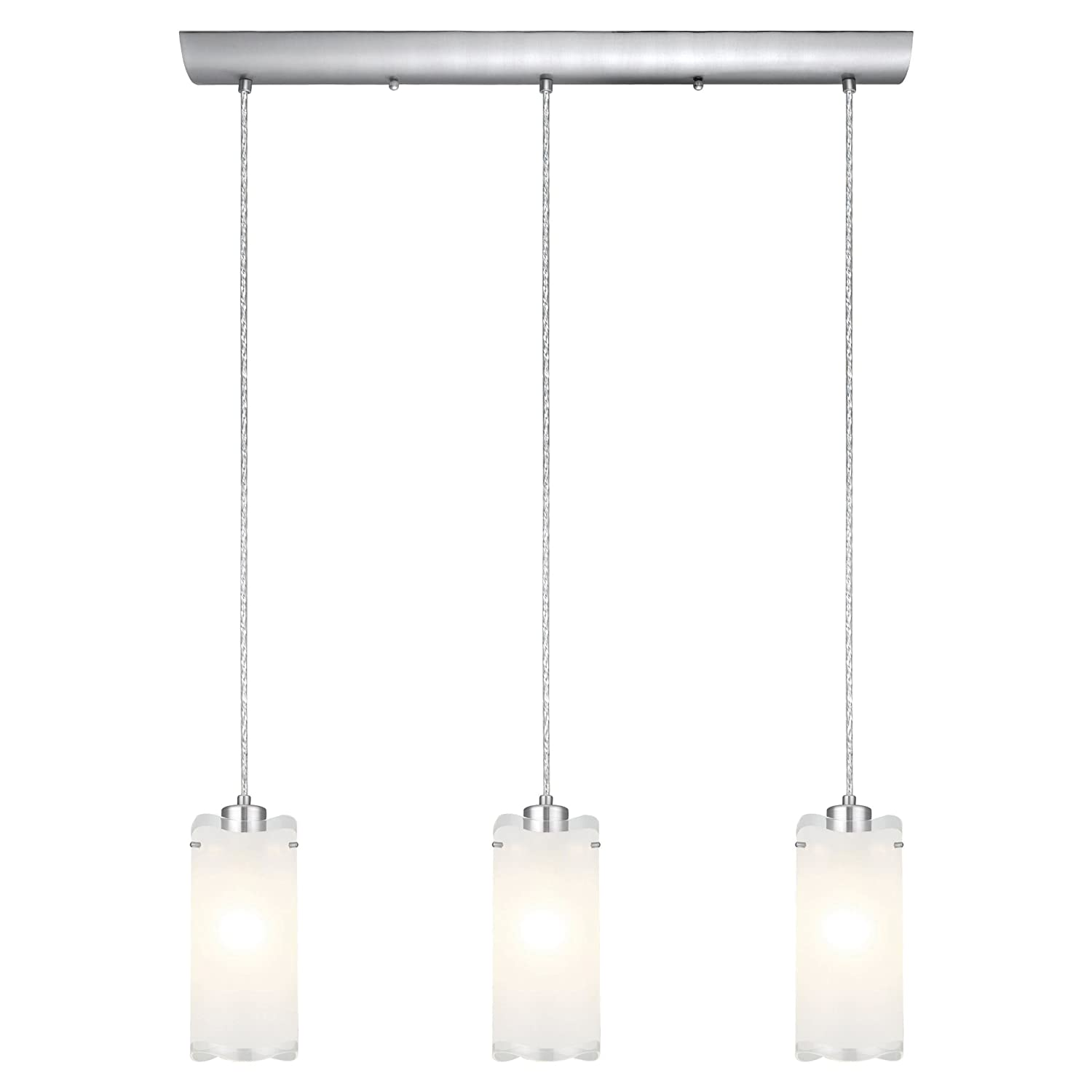 Eglo 90339a felice trestle hanging light matte nickel ceiling eglo 90339a felice trestle hanging light matte nickel ceiling pendant fixtures amazon arubaitofo Image collections
