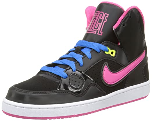 Nike Kids Son of Force Mid (6.5, Black/Pink)