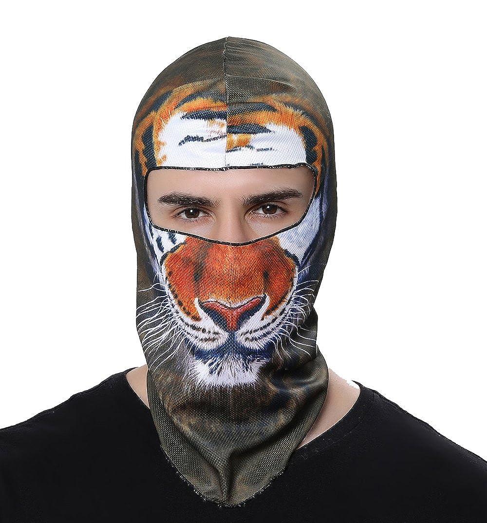 BB04 GANWAY Outdoor Sports Balaclavas Headwear Cycling Hat Motorcycle Mask 3D Animal Ski Masks Hood Skull Cap Brown