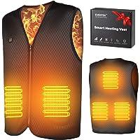 eventek Chaleco Calefactable para Hombre Mujer Padres, Chaleco Térmico USB Recargable, Chaleco Calefaccion, para Esquiar…