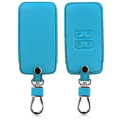 Heavy Duty PU Leather Protective Key Fob Cover for Renault 4 Button Car Key Smart Key kwmobile Car Key Cover for Renault - White/Black only Keyless Go