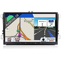 Autoradio Android 9.0 Estéreo Compatible con Golf/Skoda/Seat/Polo GPS - 2 DIN | Cámara Trasera&Canbus Gratis| 9 Pulgada…